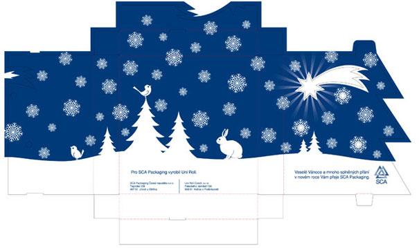návrh vánočního obalu na oplatky