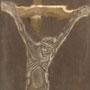 Ježíš – detail / pozitivní rytina v kovové konstrukci / 24 × 9,5 cm
