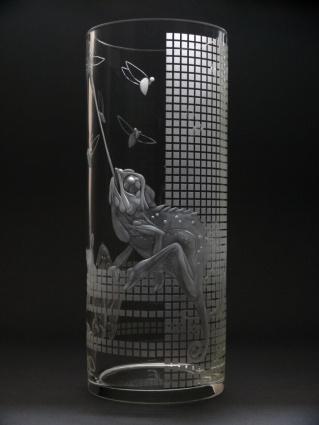 Chameleoni / negativní rytina / 24,5 × 10 cm
